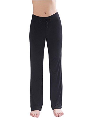 HOEREV Frauen Soft Modal Slimming Hose Yoga Hosen Pyjama-Hose (Damen Pyjama Hose)