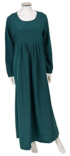 Maxi robe Uni, Type, vêtements, Modeste Dubaï–Bleu Sarcelle et violet. Tailles 10–16 Vert - Bleu-vert