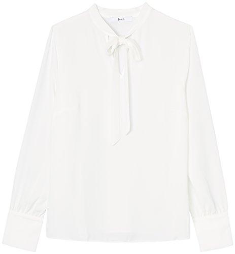 FIND Damen Schluppenbluse  Weiß (Ivory), 36 (Herstellergröße: Small)