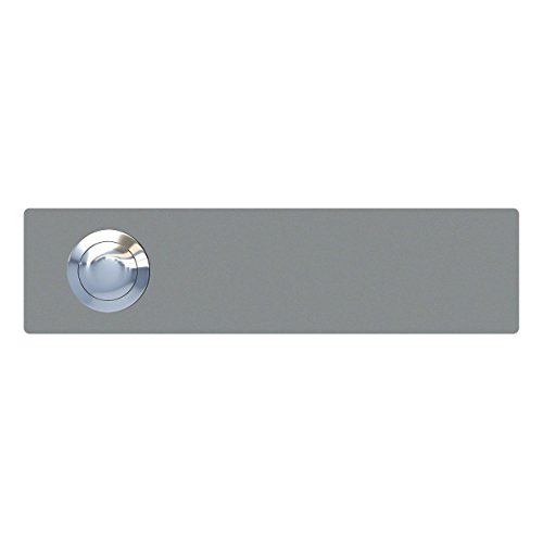 Klingeltaster, Design Klingel, Türklingel Edelstahl pulverbeschichtet Oblong, grau metallic - Bravios -