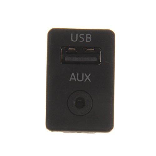 Botón de Entrada Auxiliar Cable de Interruptor USB de Coche