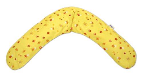 Theraline Bezug für das Theraline Original Stillkissen (Design 85, Blumenfelder, gelber Twill-Stoff) (Micro-plüsch-kissen)
