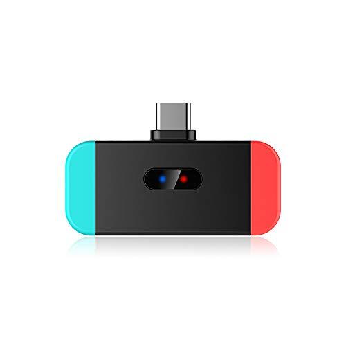 Happon Adaptateur de Transmetteur Audio Bluetooth, Prise en Charge du Chat Vocal en Jeu, Casque avec Oreillette Compatible pour Nintendo Switch / PS4 / PC Portable sous Windows 10 8 7
