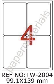 tanex-tw-2004-spedizione-dhl-etichette-pacchetto-hermes-bianco-991-x-139-mm-abgerundet-100-fogli-a4