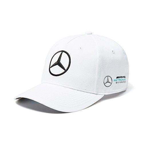 Mercedes AMG F1 Team Puma Baseball Gorra Blanco Oficial 2018