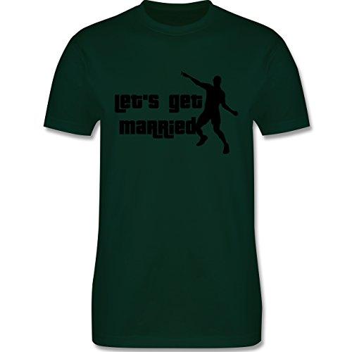 JGA Junggesellenabschied - Lets get Married - Herren Premium T-Shirt Dunkelgrün