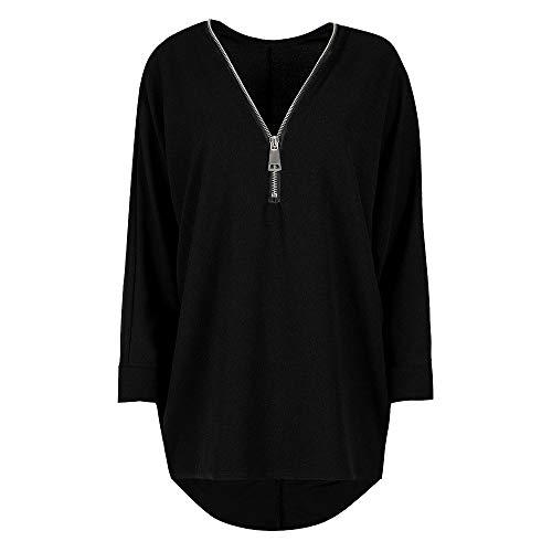 TWBB Damen Mantel,Plus Size Langärmeliger Pullover Mit Reißverschluss Outwear Sweatshirt Oberteile Bluse