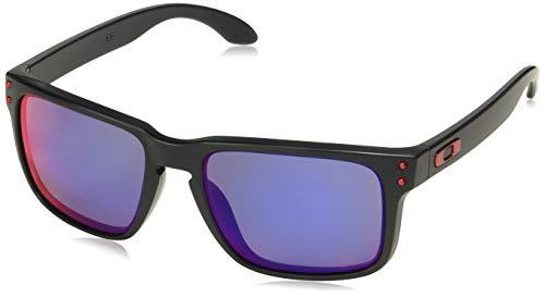 Oakley mod. 9102, occhiale da sole, matte black/positive red iridium, taglia unica