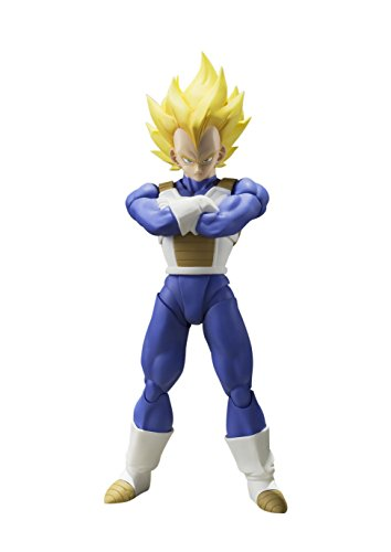 SH Figuarts Dragon Ball Z Super Saiyan Super Vegeta 13.5 cm Approx. PVC & ABS Painted Action Figure [Japan]