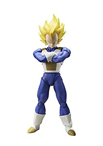 BANDAI S.H. Figuarts Dragon Ball Z Super Saiyan Super Vegeta 13.5 cm Aprox. PVC & ABS Painted Action Figure Japan