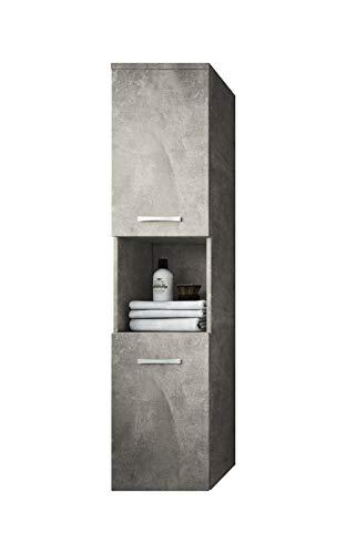 Badplaats B.V. Badezimmer Schrank Montreal 131 cm Beton - Regel Schrank Hochschrank Schrank Möbel