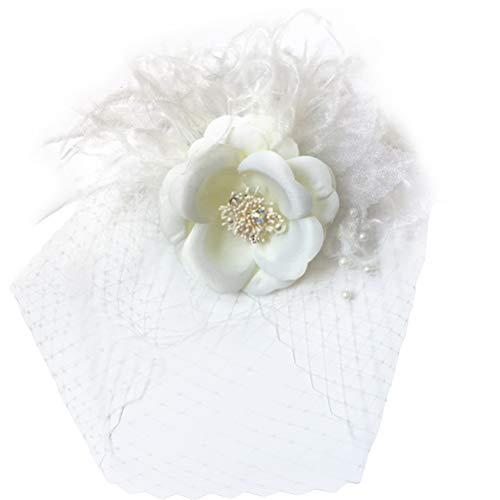 Frcolor Lady Veil Floral Coiffure Épingle À Cheveux Parti Costume Casque Fleur Cheveux Clip Cheveux Accessoires Décor pour Filles Femmes