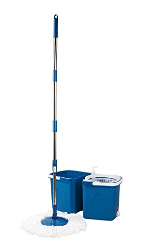 Gala-Twin-Bucket-Spin-Mop-with-2-refills-and-1-liquid-dispenser-Blue