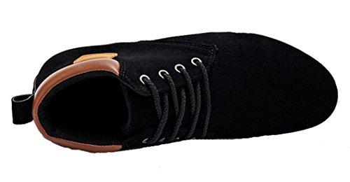 DADAWEN Homme Classique Demi-Bottine Suede Chaussure Noir