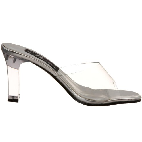 Pleaser Rom301, Damen Sandalen Transparent (clear)