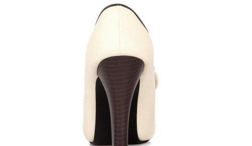 Damen Pumps High Heels Ankle Boots- LATH.PIN Brautschuhe Stilettosabsatz Party mit Schleife Klassisch Vintage Schuhe(40,Beige) -