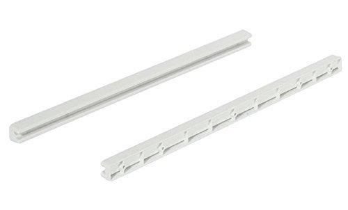 GedoTec® Schubladen-Schiene Führungsschiene 430 mm Gleitschiene für Drahtkörbe mit Gleitrand und Schubladen | Breite 18 mm | Kunststoff PVC Gleitführung | Markenqualität für Ihren Wohnbereich