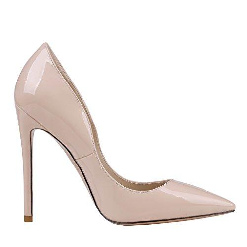 MERUMOTE , Chaussures à talon fin femme - Nude-Patent