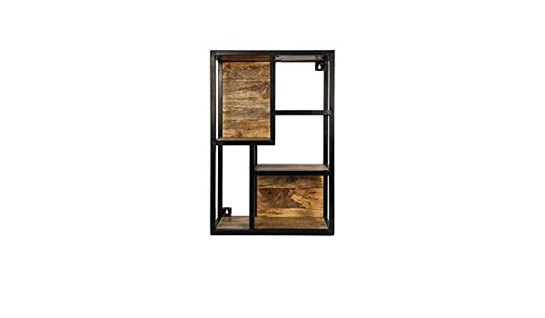 Holz 40x11x50.5 cm Metall Versa 20850020 Wandregal