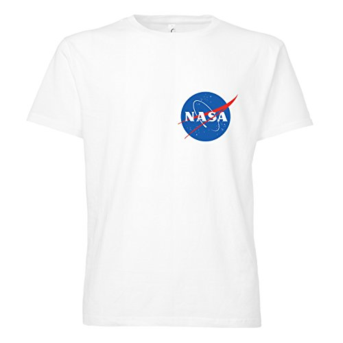 ShirtWorld NASA Logo - T-Shirt Weiß