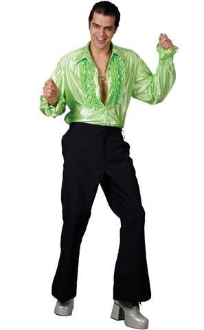green-disco-ruffle-shirts