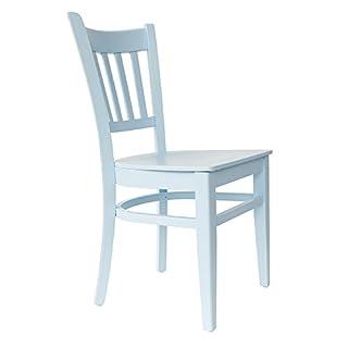 abritus Stuhl Holzstuhl Esszimmerstuhl Buche Holz blau hellblau lackiert »T002«
