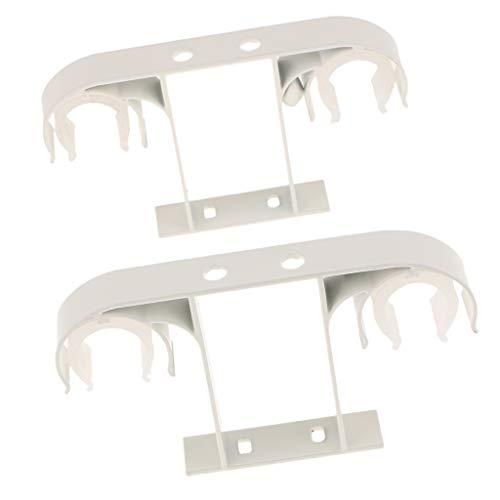 Sharplace 2 Piezas de Aleación Aluminio Soporte Barra Cortina Doble Montado En Techo