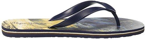 Pepe Jeans London Herren hawi Waves Zehentrenner Blau (Marine)
