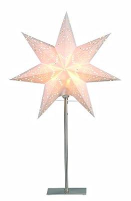 "Best Season Standleuchte Stern ""Sensy Mini 55"", Metall / Papier, circa 55 x 34 cm, Vierfarb-Karton, crème 234-22 von Best Season auf Lampenhans.de"