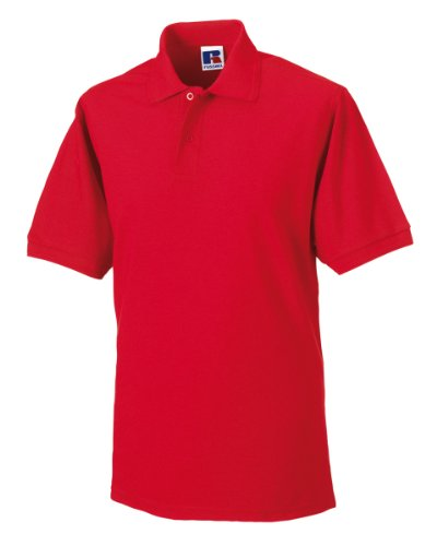Russell Polo resistente Bright Red