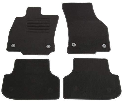 AD Tuning HG14722 Velours Fußmatten Set (4-teilig) Schwarz Passform Autoteppiche