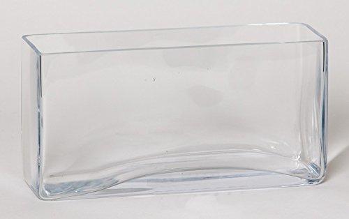 Kerzenglas Leon, Quader/rechteckig, klar, 30x10,5x15cm - Eckige Vase/Deko Vase - INNA Glas
