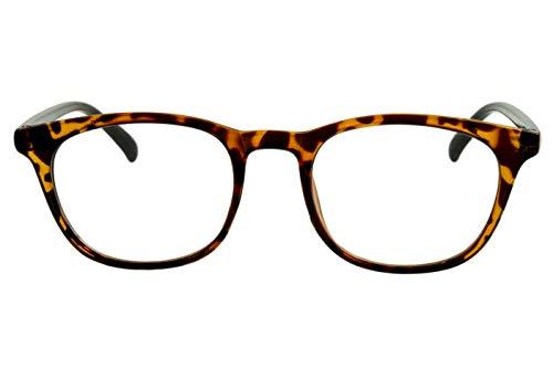 Designer Lesebrillen Damen braun schwarz gepunktet moderner transparenter Rahmen glänzend sehr leicht schöne große Gläser schmale Bügel Safarilook, Dioptrien:Dioptrien 2.5