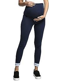 Happy Mama - Premamá leggings efecto mezclilla banda para barriga - mujer - 126c