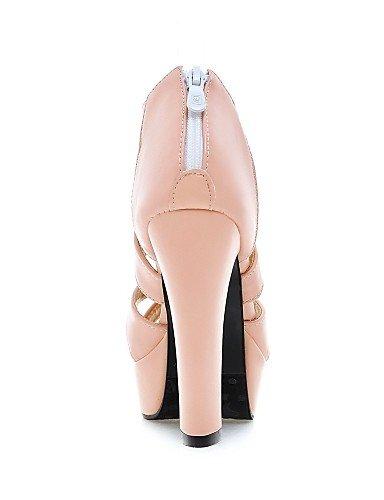 UWSZZ IL Sandali eleganti comfort Scarpe Donna-Sandali-Casual-Tacchi-Quadrato-Finta pelle-Nero / Rosa / Bianco Pink