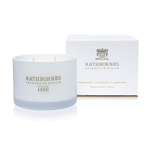 Rathbornes 1488 Rosemary, Fougere & Camphor Scented Classic 2 Wick Candle - Rosemary Scented Candle