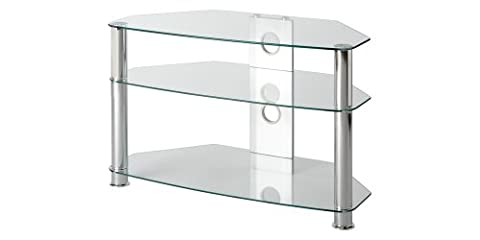 Clear Glass TV Stand by MMT, for 26 inch to 37 inch LCD LED Plasma flat screen televisions