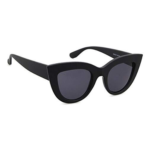 ZHOUYF Sonnenbrille Fahrerbrille Sonnenbrille Retro Cat Eye Sonnenbrille Damen Retro Schwarze Sonnenbrille Damenbekleidung Uv400, B