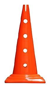 agility sport pour chiens - cône avec trous, 50 cm, orange - 1x MZK50o