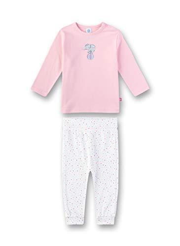 Sanetta Baby-Mädchen Pyjama Zweiteiliger Schlafanzug, Rosa (Rosarot 3532), 98 (Herstellergröße: 098)
