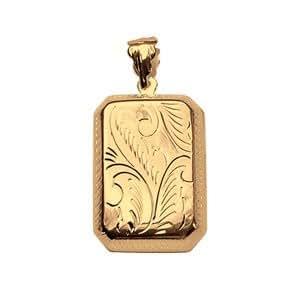 1001 Bijoux - Pendentif cassolette Rectangle vermeil - petit modèle
