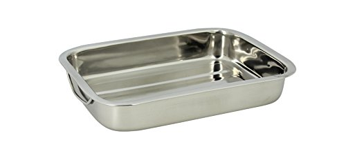 TheKitchenette 4615220 Plat Rectangle Inox, 30 cm