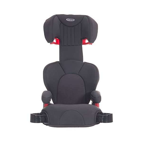 Graco Logico L Highback Booster Car Seat, Group 2/3, Midnight Grey Graco For children 15 to 36 kg (approx. 4 to 12 years) Convenient one-hand adjustable headrest Soft-cushioning seat with memory foam and height-adjustable padded armrest for comfort 4