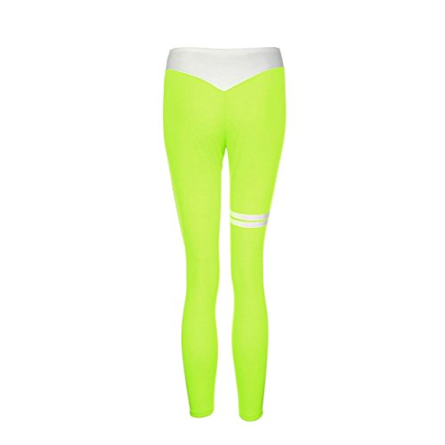 Pantaloni da donna,BeautyTop Donna Yoga Sportivi leggings fitness Sport Running yoga Athletic Pantaloni Pants Verde
