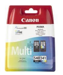 Original Tinte passend für Canon Pixma MG 3650 Canon PG-540, CL-541 5225B005, 5227B005-2x Premium Drucker-Patrone - Schwarz, Cyan, Magenta, Gelb