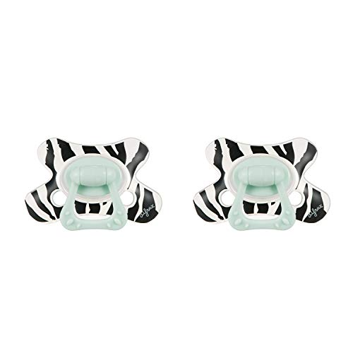 Difrax Succhietto 6-12 Mesi - Natural (Animale - Zebra) - 2 Pezzi