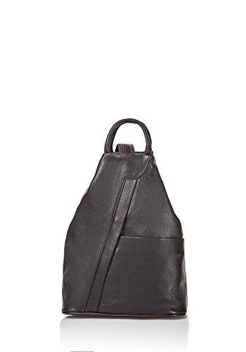 ZETA SHOES Zaino borsa in vera pelle donna made in italy MainApps testa di moro