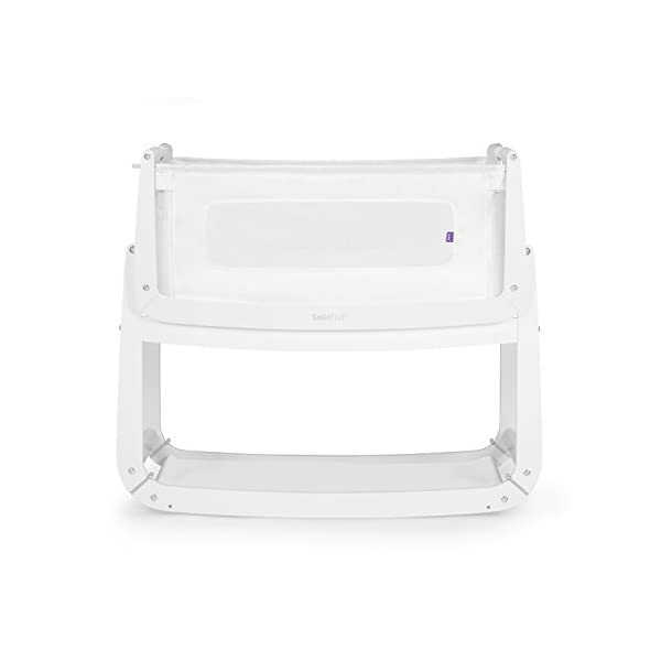 SnuzPod 3 Bedside Crib - White Snuz SnuzPod 3 has added functionality, a lighter bassinet and a more breathable sleeping environment. More than just a bedside crib; use as a bedside crib, stand alone crib or moses basket/bassinet. Simply attach the crib to your bed using straps provided (fits frame and divan beds) and your ready use as a bedside crib. The 9 different height settings allow you to ensure the crib is the right height for your bed (31-63cm) New! SnuzPod 3 now comes with an optional reflux function, by tilting the crib and setting an incline to reduce reflux symptoms little one can get a better nights sleep. 1