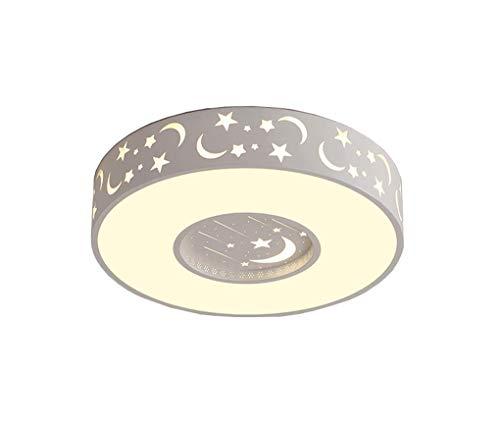 Preisvergleich Produktbild ZYY Kinderzimmer Decke,  LED Star Light Junge Zimmer Lichter Mädchen Schlafzimmer Lichter Wärme Einfache Kreative stufenlose Dimmung + Fernbedienung Deckenleuchte (Farbe: Weiß-Durchmesser 40 cm)