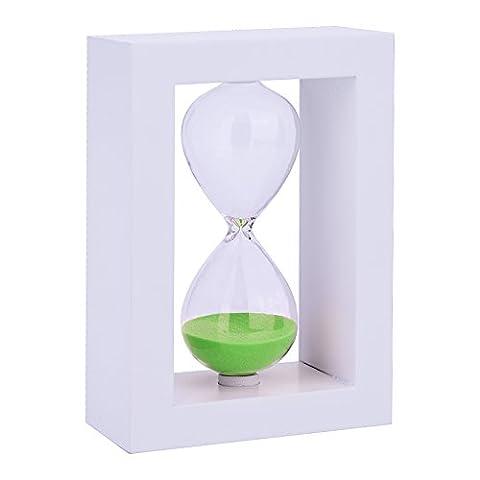 Sanduhr Zeitschaltuhr Sanduhren Blaues Glas Plastik 30 Minuten zählen Sanduhr Spiele für Kinder